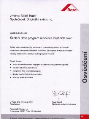 Certifikat_Roto_renovace_oken_2015
