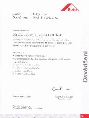 Certifikovana firma ROTO_2020